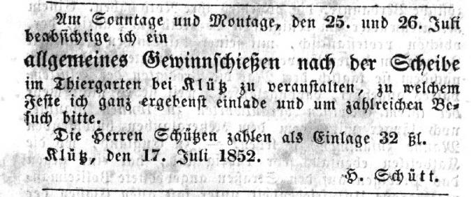 1852j-07m-22t - Anzeige in Grevesmühlener Zeitung